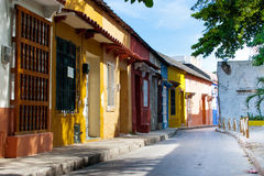 Rue de Carthagène de Indias Photo libre de droits