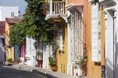 Rue de Carthagène de Indias Photo libre de droits