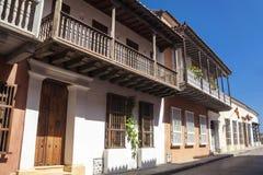Rue de Carthagène de Indias Image stock
