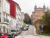Rue de Castineiros - Santiago de Compostela image stock