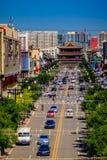 Rue de centre urbain de Datong Image stock