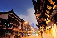 Rue de Changhaï Chenghuangmiao Photo libre de droits