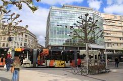 Rue de Chantepoulet στη Γενεύη, Ελβετία Στοκ φωτογραφία με δικαίωμα ελεύθερης χρήσης