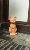 Rue de chat d'argile Photo libre de droits