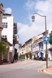 Rue de Chinatown de Singapour Photos stock