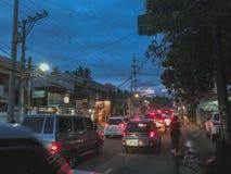 Rue de city's de Cebu, Philippines images stock