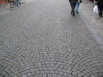 Rue de Cobbledstoned Image stock
