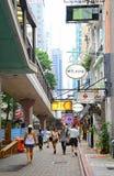 Rue de Cochrane, central, Hong Kong Images libres de droits