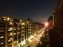 Rue de Copenhague au coucher du soleil Images stock