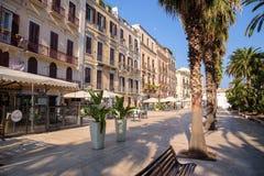 Rue de Corso Vittorio Emanuele à Bari Photographie stock