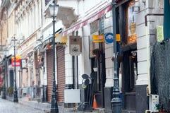 Rue de covaci de Bucarest Photographie stock libre de droits