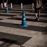 Rue de croisement d'homme Photographie stock libre de droits