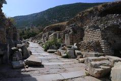 Rue de Curetes dans Ephesus Images libres de droits