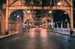 Rue de district des affaires de Chicago image stock