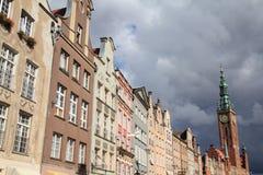 Rue de Dluga, Danzig image libre de droits