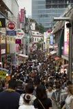 Rue de dori de Takeshita dans Harajuku, Japon photos libres de droits