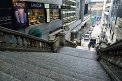Rue de Duddell, Hong Kong Photos libres de droits