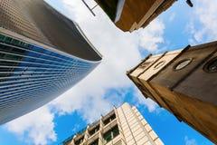 Rue de Fenchurch du gratte-ciel 20 à Londres, R-U Image libre de droits