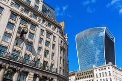 Rue de Fenchurch du gratte-ciel 20 dans la ville de Londres Image libre de droits