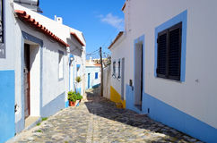Rue de Ferragudo Photos libres de droits