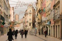 Rue de Ferreira Borges Coimbra portugal photos stock