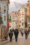 Rue de Ferreira Borges Coimbra portugal image libre de droits