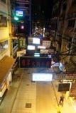 Rue de fin de nuit au central Image stock