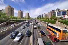 Rue de finances de la Chine Pékin, horizontal urbain Photos libres de droits