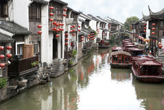 Rue de fleuve de Suzhou Image stock