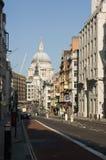 Rue de flotte et rue Paul, Londres Images libres de droits