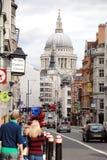Rue de flotte, Londres Photo libre de droits