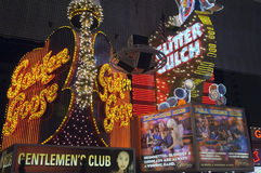 Rue de Fremont à Las Vegas Photographie stock