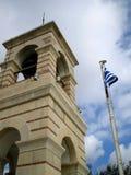 rue de george de chapelle d'Athènes Images stock