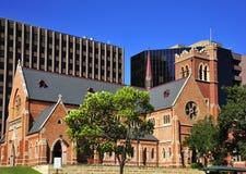 rue de Georges Perth de ville de cathédrale de l'australie photos libres de droits