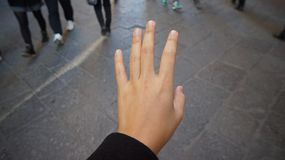 Rue de geste de main Photo libre de droits