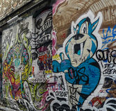 Rue de graffiti à Melbourne, Australie Image libre de droits