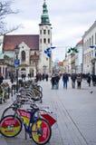 Rue de Grodzka à Cracovie Pologne Images stock