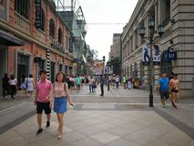 Rue de Han dans la ville de Wuhan Photographie stock libre de droits