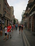 Rue de Han dans la ville de Wuhan Photographie stock