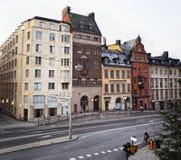 Rue de Hornsgatan à Stockholm, Suède Image libre de droits