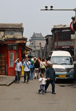 Rue de hutong de Pékin Image libre de droits