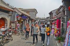 Rue de hutong de Pékin Photo libre de droits