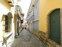 Rue de Jaen où vous trouvez le vieux avec le nouveau Image libre de droits