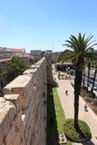 Rue de Jaffa de la promenade de remparts, Israël Photos stock