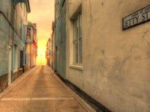 Rue de jetée, Cromer dans HDR. Images libres de droits