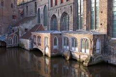 rue de John s d'hôpital de Bruges Image stock