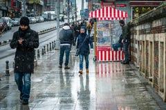 Rue de Kadikoy à Istanbul, Turquie Images libres de droits