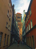 Rue de Kaletnicza à Danzig Pologne Photos stock