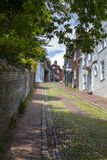 Rue de Keere en Lewes, le Sussex est photo stock