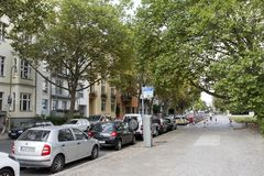 Rue de Kluckstraße à Berlin Photographie stock